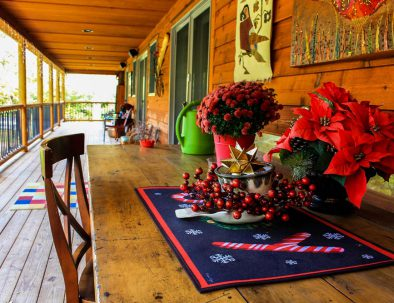 The porch at Stillwater Haven Private Luxury Vacation Rental