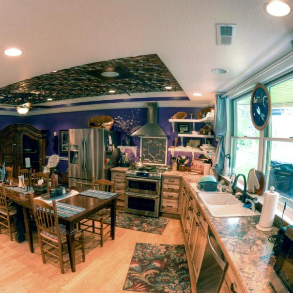 Patio Level Gourmet Kitchen & Dining Area