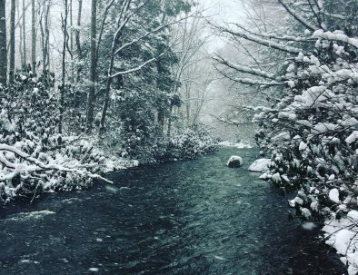 Youghiogheny River in the winter
