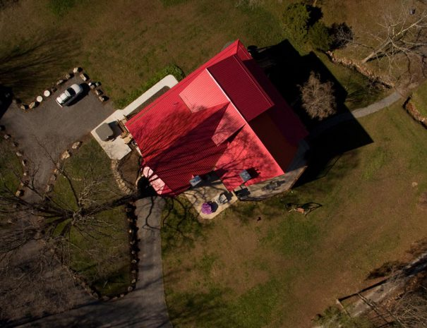 Stillwater Haven arial view of red roof
